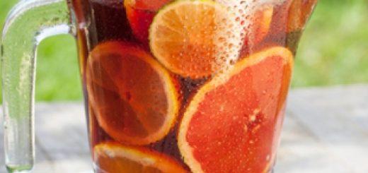 ice tea jahoda pomeranc