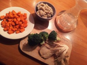 snidane jecmen a zelenina ingredience