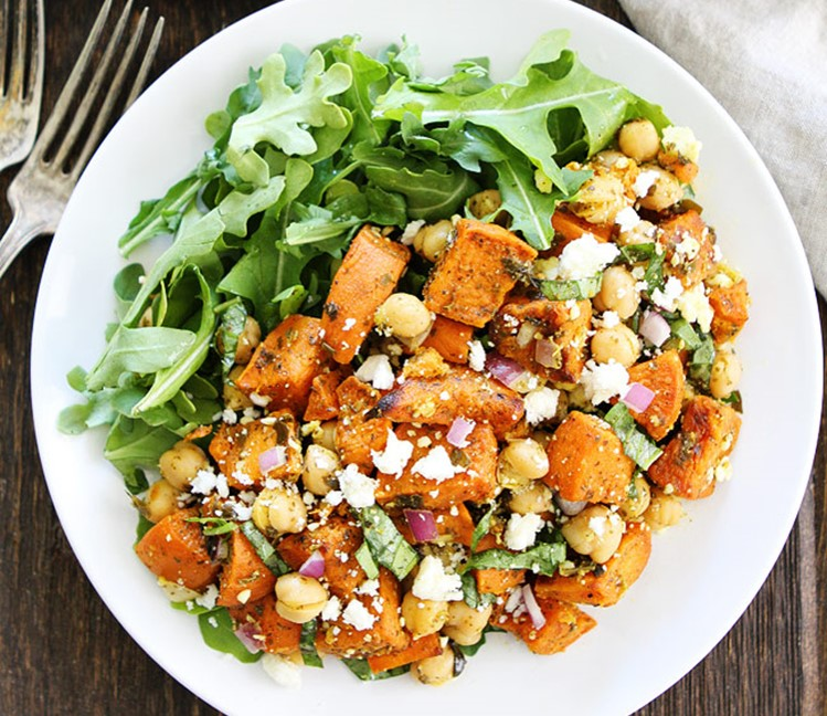 Sweet-Potato-Chickpea-Salad-with-Pesto-5